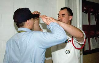 Saluting properly acknowledges the Chain of Command and the recruit's place in it.